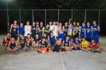 Group picture after a recreation league game in the park. See if you can spot me. I'll give you a hint… I'm the only non-Thai person.