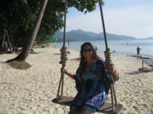 My gorgeous girlfriend Krissy on a gorgeous beach in Koh Chang
